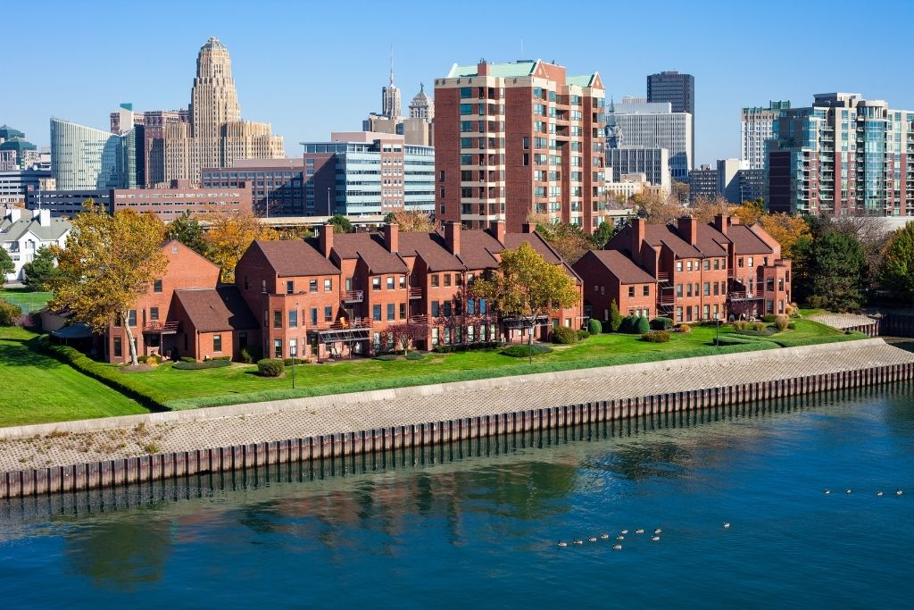 Downtown Buffalo NY.
