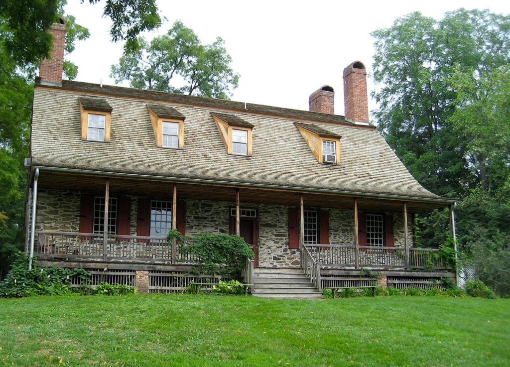 18th century Dutch, stone Manor house at Mount Gulian Historic Site.