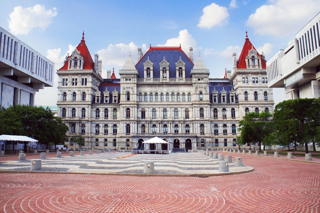 Exterior of the New York State Capitol Building in Albany
