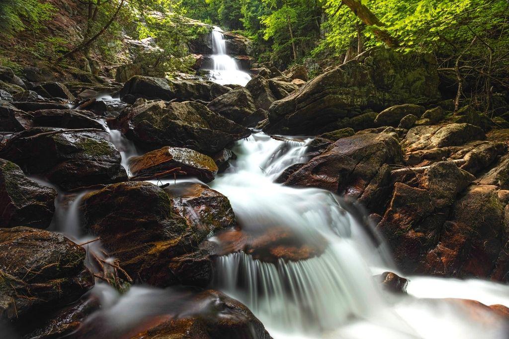 Shelving Rock Falls in Lake George
