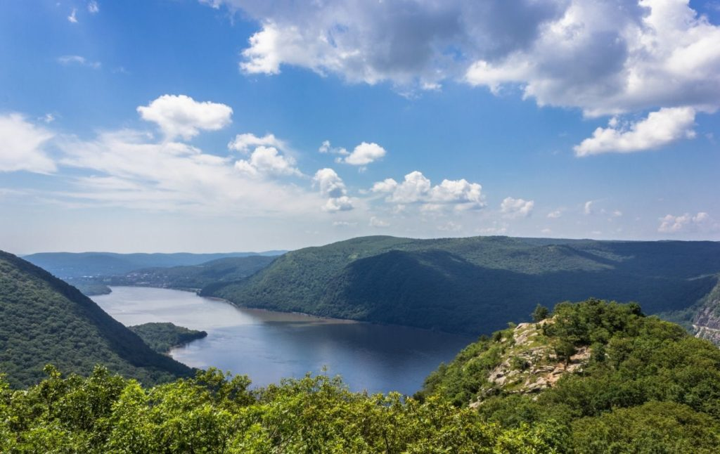 View from Breakneck Ridge of the Hudson River and Hudson Valley.