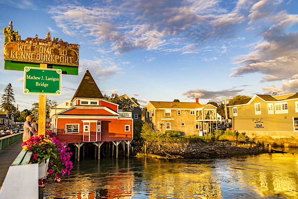 Dock Square in Kennebunkport Maine.