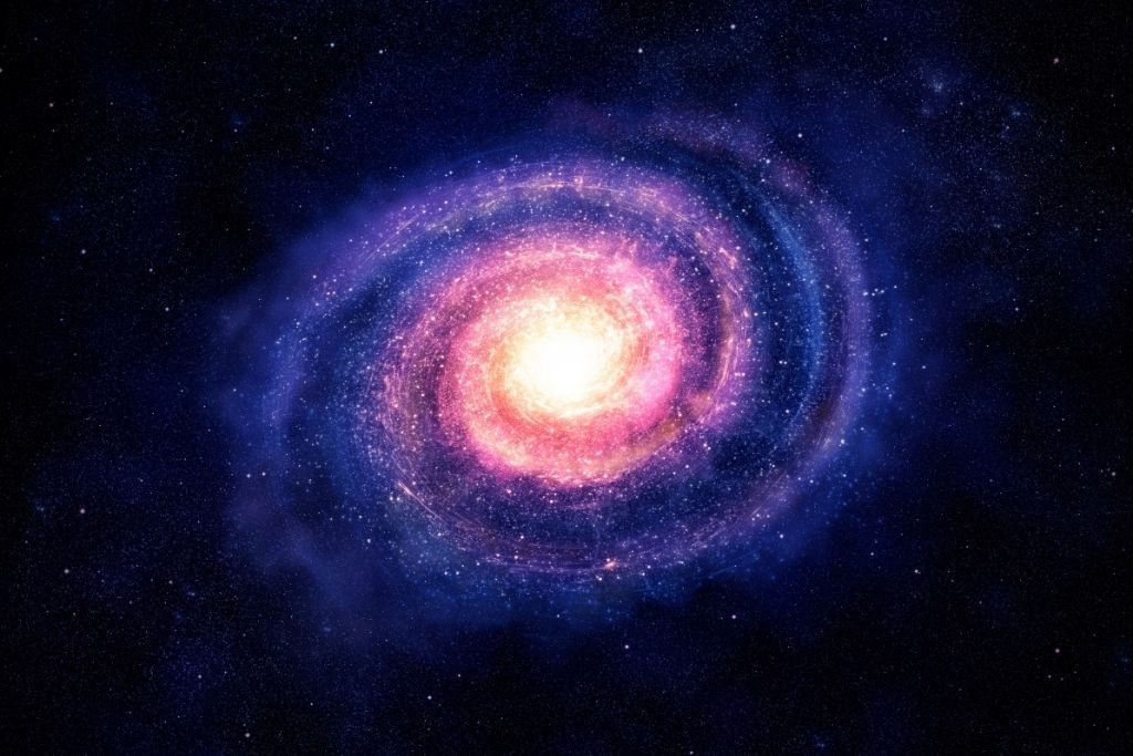 Vibrant galaxy in space.