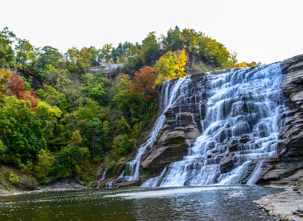 View from the base of Lucifer Falls in Robert H. Treman State Park near Ithaca.
