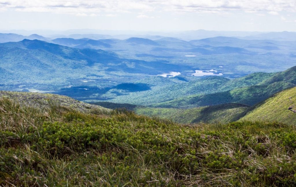 View of the Adirondacks from the top of Mount Marcy.