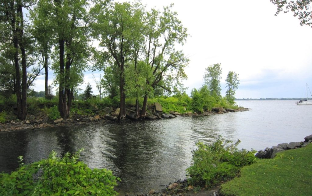 View of Lake Champlain from Plattsburgh, one fo the charming small towns in New York.