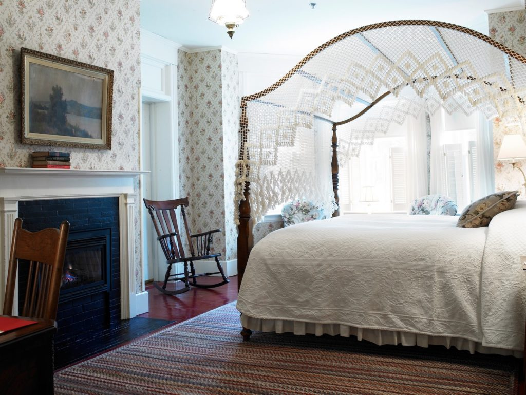 Old-world charm and decor of the rooms inside the Red Lion Inn.