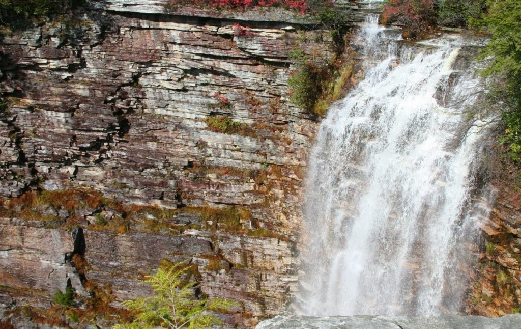 Verkeerderkills Falls in Minnewaska State Park near New Paltz New York.