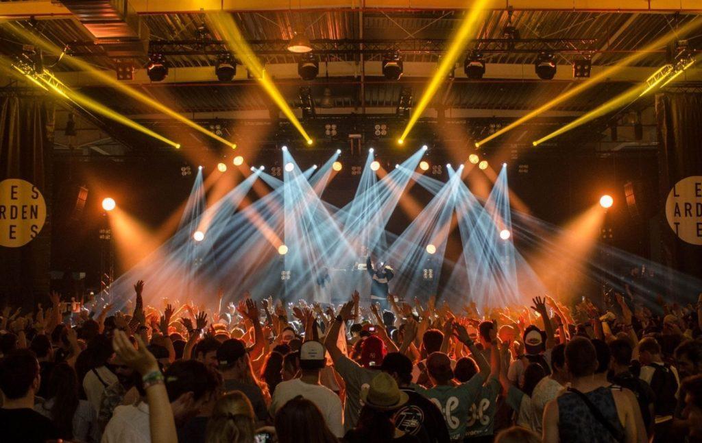People enjoying a live concert.
