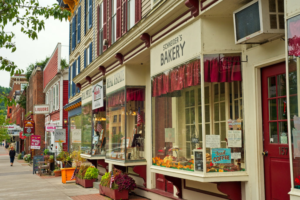 Walk down the charming Main Street, one of the top things to do in Cooperstown NY.
