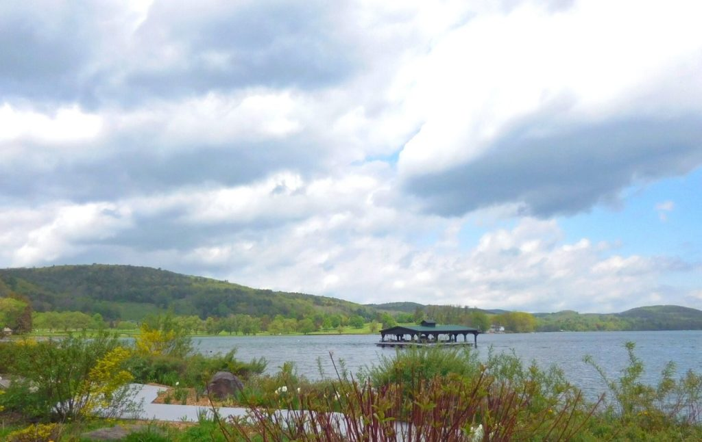 View of Otsego Lake from Cooperstown, NY.