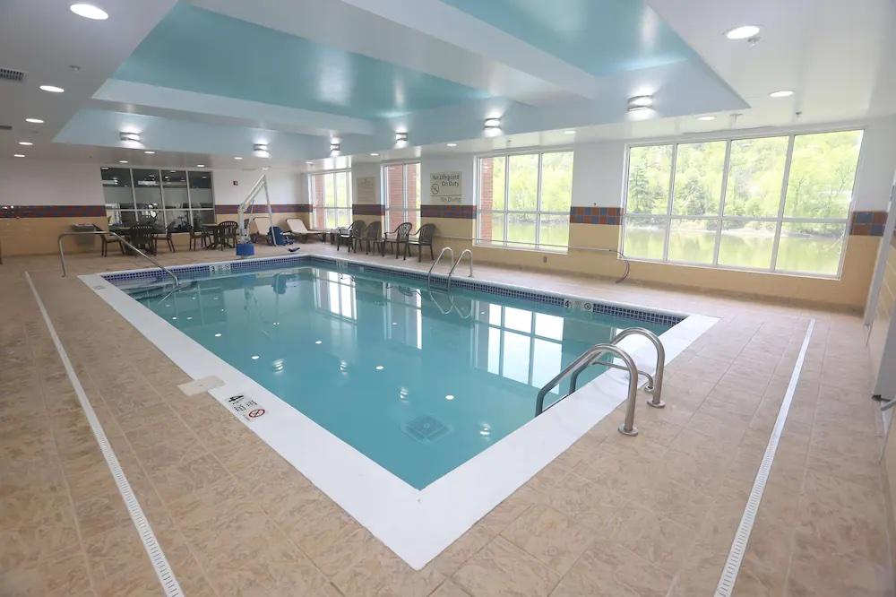 Pool inside the Hampton inn Owego.