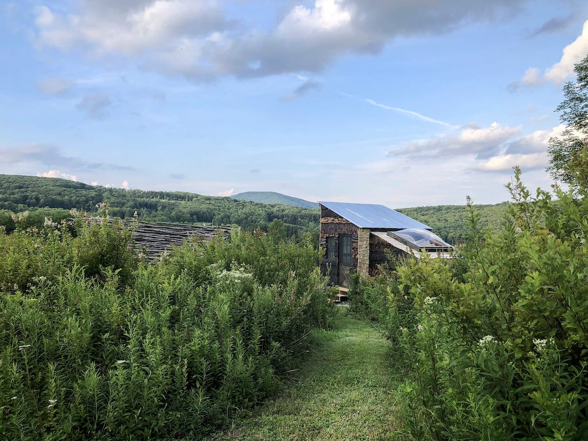Off-grid artisan tiny house in the Catskills.