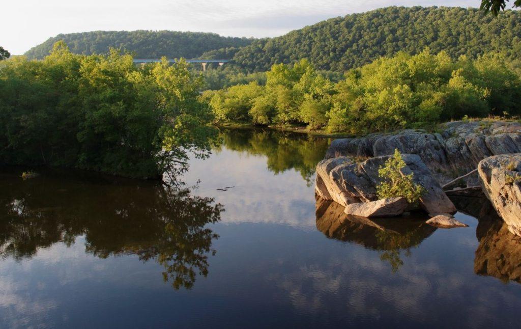 View of the Susquehanna River near Owego, NY.