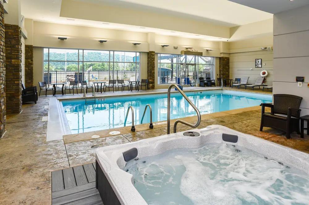 Pool inside the Tioga Downs Casino in Nichols, NY.