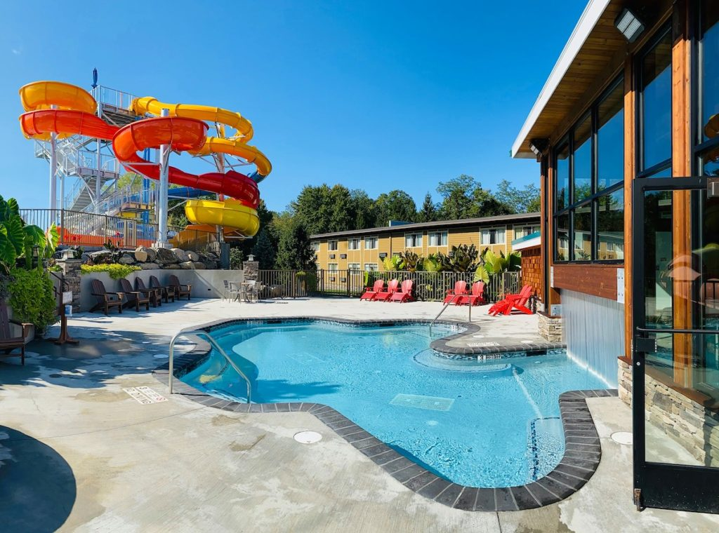 Waterpark and hot springs at Rocking Horse Ranch, one of the best all-inclusive resorts in New York.